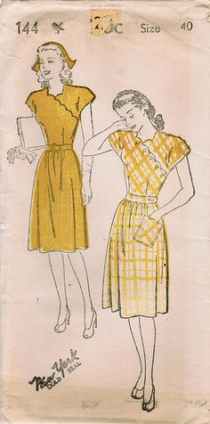 I wish we all wore these dresses from the 40's. I'm on the hunt for some for myself.