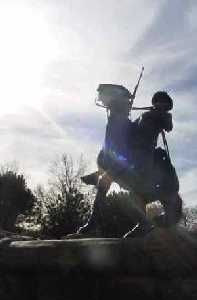 Buffalo Soldier at Fort Leavenworth, Kansas
