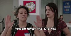 New trendy GIF/ Giphy. season 3 hillary clinton comedy central broad city yas ilana glazer abbi jacobson 03x05 vote for hillary. Let like/ repin/ follow @cutephonecases