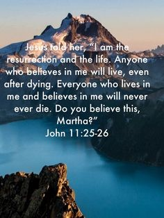 John 11 25 26, Do You Believe, Tell Her, Scriptures, Life, Verses, Bible Verses, Scripture Verses