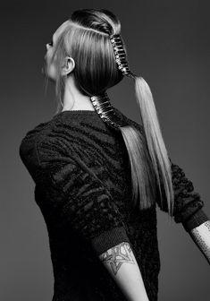 Sebastian Professional коллекция авангардных причёсок с аксессуарами в волосах осень/зима 2016 Eclectic