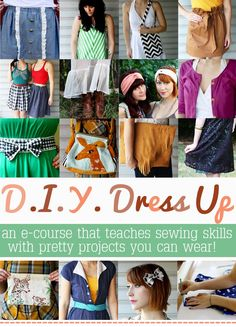 e-course to teach yourself sewing skills... I need this... or so says my mother
