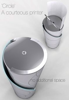 Circle Concept Printer Very smart! Would love one of these!!!