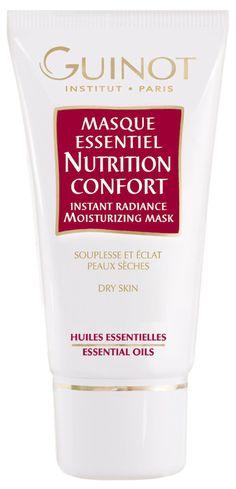 MASQUE ESSENTIEL NUTRITION CONFORT (50ml)   Maske mit intensiv nährenden Ölen. Die natürlichen Öle nähren die Haut. Entspannt die Gesichtszüge sofort und schenkt ihr einen strahlenden Teint. http://www.best-kosmetik.de/marken/guinot/trockene-haut/Masque-Essentiel-Nutrition-Confort.html
