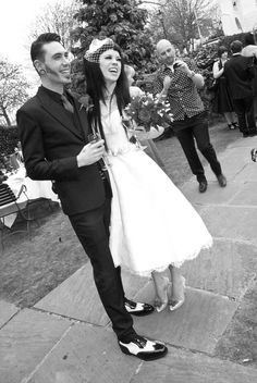 such a cute Rock and Roll wedding, we r considering a similar look and i love how they look :) love the style