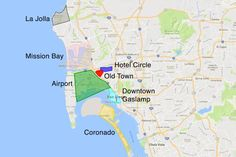 Guide to finding hotels in San Diego includes tips on what area to stay in, area profiles, hotels top rated by their visitors and interesting places to stay