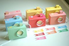 special - - 7 box baby cameras, pastel colours - printable paper craft pdf file (includes all 7 colours) Paper Toy, Diy Paper, Paper Crafts, Diy Crafts, Paper Camera, Box Camera, Printable Box, Printables, Gifts