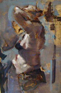 Motion, oil on panel, Santiago Michalek, figure painting, female figure, figure drawing, oil painting
