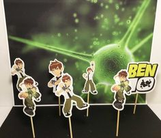 Ben 10 cupcake topper, party solution decoration, theme cupcake, birthday cupcake toppers,Ben 10 inspired | Happy Party