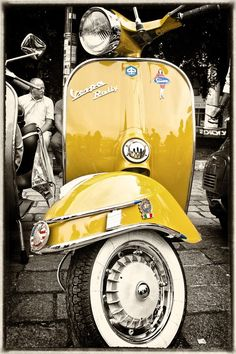 To know more about Vespa Yellow Vespa, visit Sumally, a social network that gathers together all the wanted things in the world! Featuring over 396 other Vespa items too! Piaggio Vespa, Scooters Vespa, Motos Vespa, Lambretta Scooter, Motor Scooters, Vespa Vbb, Vespa Motorcycle, Gas Scooter, Motorcycle Types