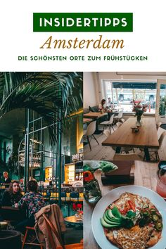 Insider tips Amsterdam - the most beautiful places to have breakfast: Fancy a . - Amsterdam-Rotterdam-Den Haag - THE Travellers Amsterdam Breakfast, Breakfast Hotel, Amsterdam Food, Amsterdam Holland, Amsterdam City, Amsterdam Travel, Hotels In Amsterdam, Shopping In Amsterdam, Rotterdam
