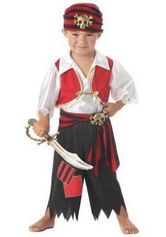 Ahoy Matey Boy's Halloween Costume 2014 - Let your child live a pirate's life in this Toddler Ahoy Matey Pirate Costume. Add a pirate hat, boots and toy weapons, and he's ready for a Halloween treasure hunt! Toddler Pirate Costumes, Pirate Kids, Pirate Halloween Costumes, Fete Halloween, Baby Costumes, Halloween Kids, Spirit Halloween, Costumes 2015, Turtle Costumes