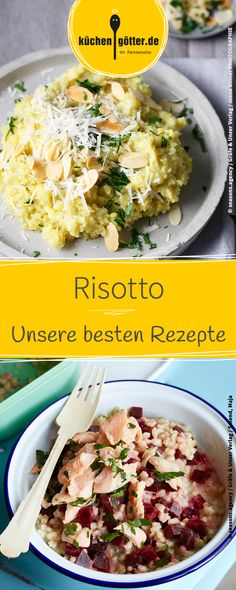 Hier findet ihr unsere besten Risotto-Rezepte. Rissoto Thermomix, Milk Dessert, Food Staples, Portion Control, Rice Dishes, Pasta Salad, Vegan Vegetarian, Potato Salad, Curry