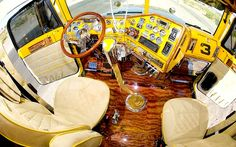 Big Rig Truck Interiors | http://www.thehogring.com/2012/08/23/10-best-custom-big-rig-interiors/
