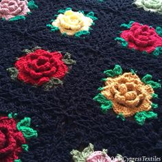 Babouska Rose pattern info @ BabyLoveBrand.net - Modified with granny border and flat braid join. This is a replica of a beloved blanket ...