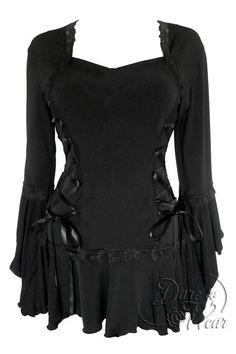 Dare To Wear Victorian Gothic Women's Plus Size Bolero Corset Top Black