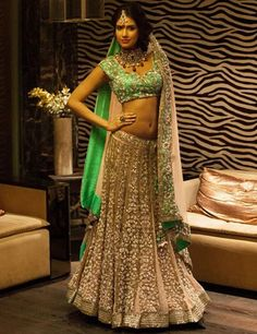 Gorgeous #Lehenga Choli by Peppermint Diva https://www.facebook.com/peppermintdivakolkata