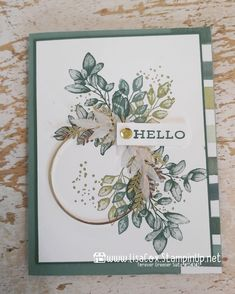 Homemade Greeting Cards, Greeting Cards Handmade, Leaf Cards, Hand Stamped Cards, Card Making Inspiration, Inspiration Cards, Friendship Cards, Stamping Up Cards, Handmade Birthday Cards