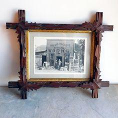 2x Antique Brass Hanging Glass Float Portrait Photo Frames 5x7 inch+4x6 inch