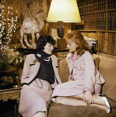 Coco Chanel & Jeanne Moreau 1957