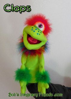 Clops monster hand puppet or ventriloquist figure professional