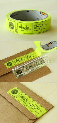 Guehne-Made - Kansas City | Home Remodeling | Home Styling | Custom Woodworks | Custom Furniture: DIY Masking Tape Address Label