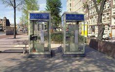 ~ Telefooncel mét telefoonboeken