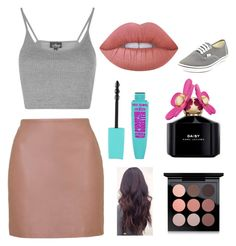 """""""Untitled #110"""" by mylifeasrysa on Polyvore featuring Topshop, Lime Crime, Marc Jacobs, MAC Cosmetics and Vans"""
