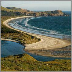 Victory Beach, Otago Peninsula - South Island, New Zealand. Beach Travel, Beach Trip, Dunedin New Zealand, Nz South Island, New Zealand Landscape, State Of Arizona, The Beautiful Country, South Pacific, British Isles