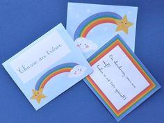 Invitations, kit de fête d'anniversaire Arc-en-ciel est une création orginale de MariaOOO sur DaWanda