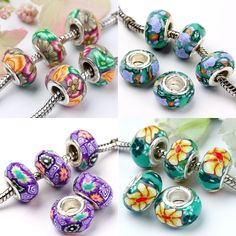 polymer clay beads | ... , bracelets and necklaces with polymer clay European Pandora beads