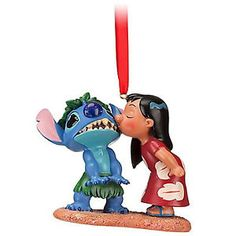 DISNEY-STORE-LILO-KISSING-STITCH-2012-SKETCHBOOK-CHRISTMAS-ORNAMENT-NEW