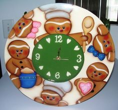 Handpainted Gingerbread Clock