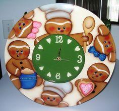 Handpainted Gingerbread Clock by stephskeepsakes on Etsy, $38.95