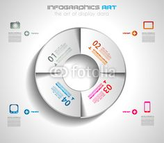 Vecteur : Infographic design template with paper tags.