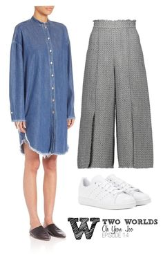 A fashion look from September 2016 featuring shirt dress, green trousers and adidas shoes. Browse and shop related looks. Long Denim Shirt Dress, W Two Worlds, Second World, Proenza Schouler, Cropped Pants, Acne Studios, Trousers, Fashion Looks, Adidas