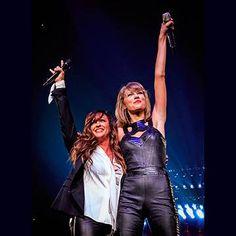 Taylor Swift recebe astros em shows