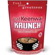 eatKeenwa - Coconut Cranberry Cashew Quinoa Cluster Snack