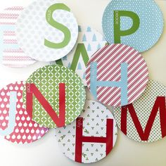 Personalized Holiday Plates - these make great Christmas gifts or Cookies for Santa plates. #PNshop