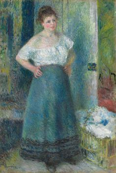 "Pierre-Auguste Renoir (1841-1919), ""The Laundress"" - The Art Institute of…"