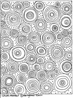 Rug Hook Paper Craft Pattern Circles Abstract Folk Art Abstract Prim Karla G Doodle Patterns, Zentangle Patterns, Zentangles, Zen Doodle, Doodle Art, Folk Embroidery, Embroidery Patterns, Doodle Drawings, Easy Drawings