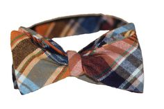 Vintage Plaid – Orange/Navy