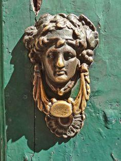 Rome Door Knocker   Door knocker seen in the Trastevere area of Rome.