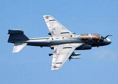 EA-6B Prowler, an electronic warfare plane.