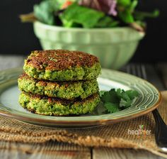 Broccoli Fritters I wanted to make broccoli fritters that were vegan, gluten-free and perfect for someone on a candida diet. I used flaxseed and chickpea flour as binders and must say that they worked very well in this recipe.