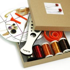 Wire Crochet jewelry making kit , all the knowledge and supply you require to successfully make 4 of