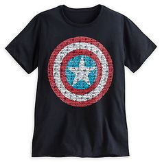 Captain America Text Shield for Men $22.95