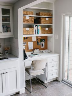 How to Organize a Small Desk Nook as a Home Office Space in your kitchen
