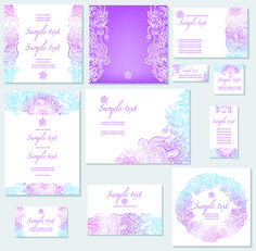 wedding invitations templates | template of wedding invitation – сolorful template for wedding ...