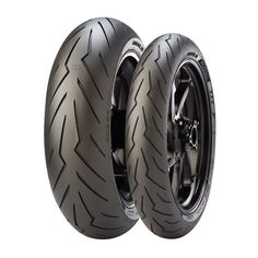 Pirelli infuses technology from the World Superbike Championship into their Diablo Rosso 3 tires. Designed with unprecedented handling this is the evolution . Bmw S1000rr, Yamaha R1, Motorcycle Wheels, Cruiser Motorcycle, Atv Wheels, Honda, Pirelli Tires, Ducati Hypermotard
